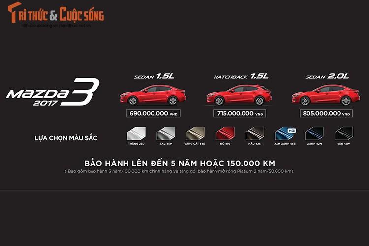 "Tang gia 30 trieu dong - Mazda3 phien ban 2017 co gi ""hot""?-Hinh-18"