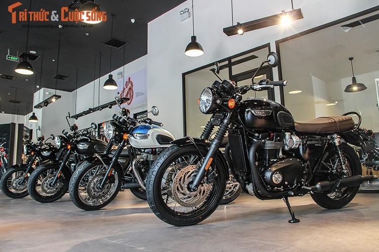 """Moto """"do lot"""" Triumph chinh hang gia tu 310 trieu tai VN"""