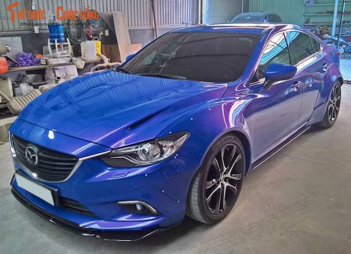 """Sedan Mazda 6 do widebody """"doc nhat"""" Viet Nam"""