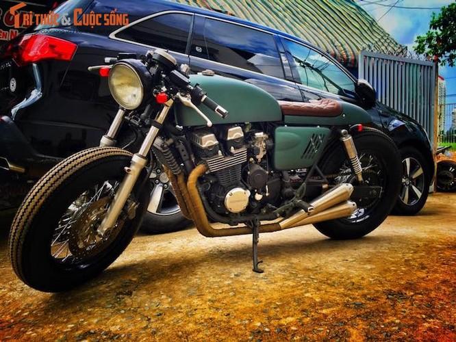 "Honda CB750 do cafe racer ""sieu ngau"" tai Sai Gon"