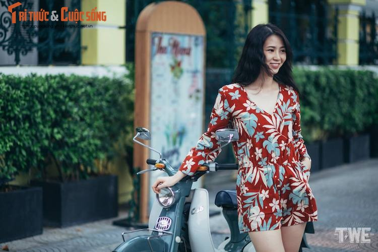 "Nguoi dep Viet do dang ""hang hiem"" Honda Super Cub C100-Hinh-3"