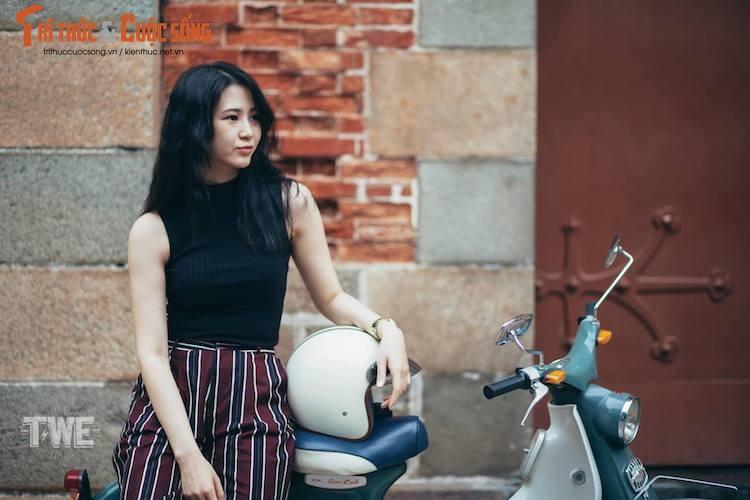 "Nguoi dep Viet do dang ""hang hiem"" Honda Super Cub C100-Hinh-8"