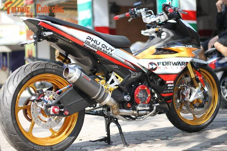 "Yamaha Exciter 150 do ""mong to"" sieu khung o Ha Noi-Hinh-11"