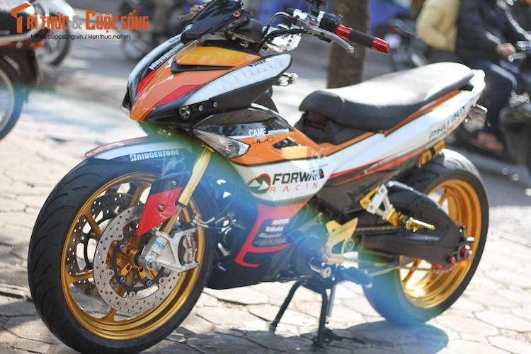 "Yamaha Exciter 150 do ""mong to"" sieu khung o Ha Noi"
