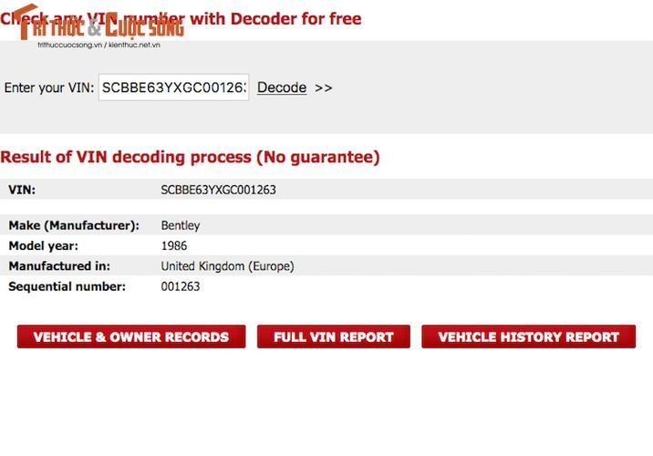 Bentley Mulsanne rao ban 1,6 ty tai Quang Binh la hang