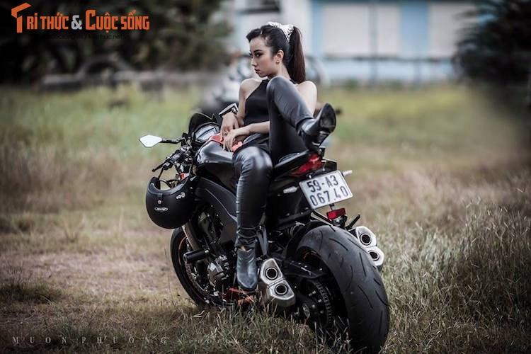 """Nguoi dep Viet """"do dang chuan"""" ben Kawasaki Z1000-Hinh-3"""