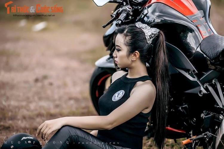 """Nguoi dep Viet """"do dang chuan"""" ben Kawasaki Z1000-Hinh-4"""