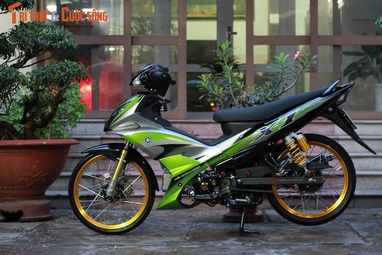 """Yamaha Jupiter do phong cach X1 """"sieu doc"""" cua biker Viet"""