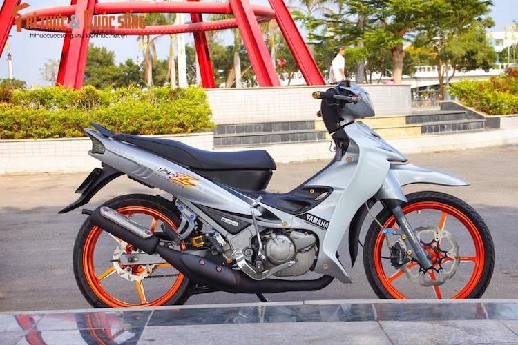 """""""Xe no 2 ky"""" Yamaha Z125 do kieng cuc chat tai An Giang-Hinh-2"""
