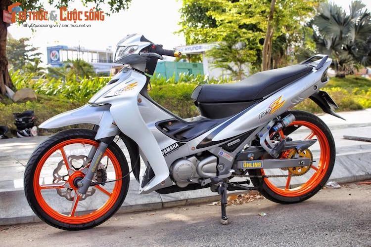 """""""Xe no 2 ky"""" Yamaha Z125 do kieng cuc chat tai An Giang-Hinh-5"""