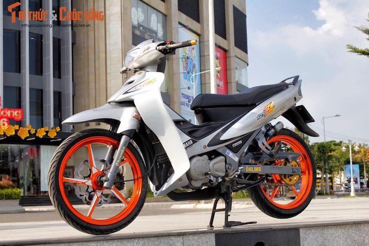"""""""Xe no 2 ky"""" Yamaha Z125 do kieng cuc chat tai An Giang"""
