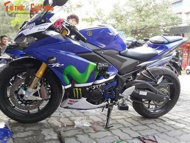 """Moto Yamaha R3 do do choi """"khung"""" tai thanh Nam"""