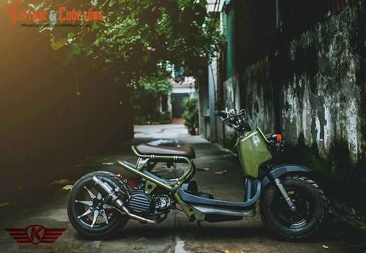 """Honda Zoomer 50 do phuoc hoi """"sieu doc"""" tai Ha Noi-Hinh-4"""