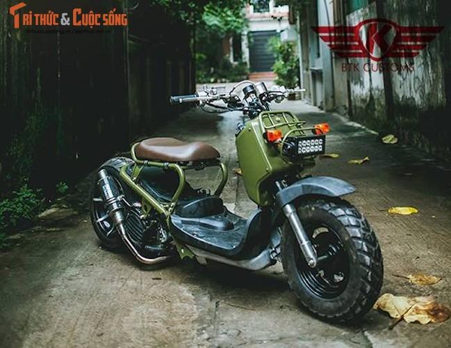 """Honda Zoomer 50 do phuoc hoi """"sieu doc"""" tai Ha Noi-Hinh-8"""