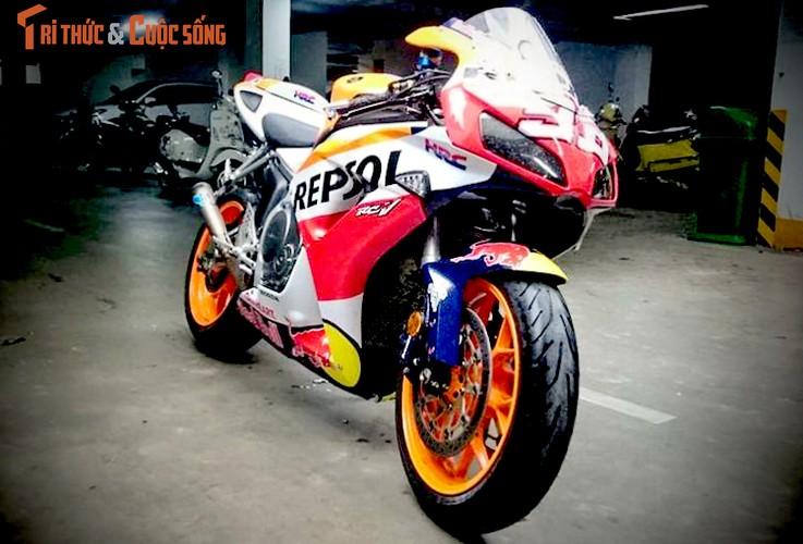Dan choi Binh Duong do sieu moto Honda CBR1000RR