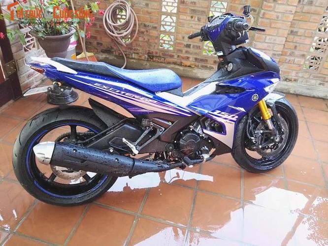"""Dan choi Hue """"dap thung"""" Yamaha Exciter 150 thay chan khung-Hinh-2"""