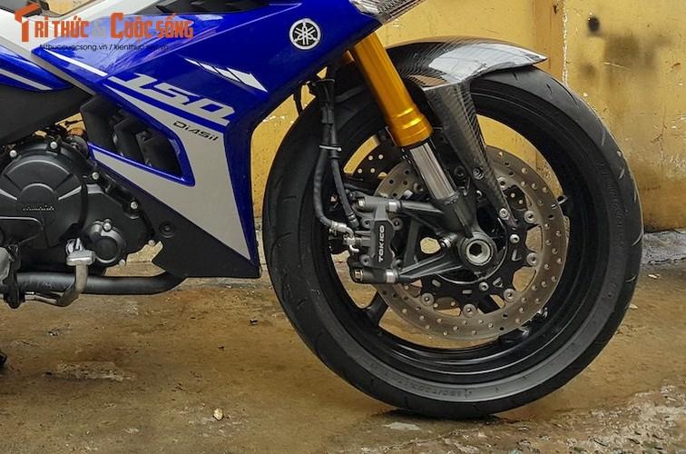 """Dan choi Hue """"dap thung"""" Yamaha Exciter 150 thay chan khung-Hinh-3"""