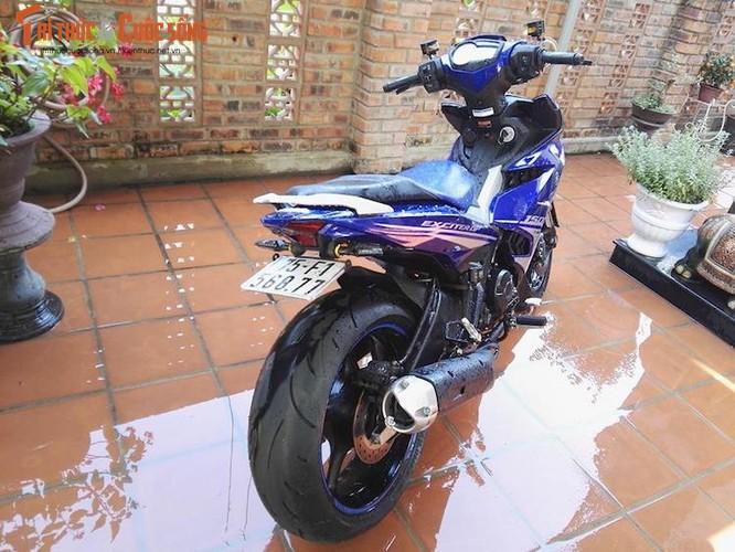 """Dan choi Hue """"dap thung"""" Yamaha Exciter 150 thay chan khung-Hinh-7"""