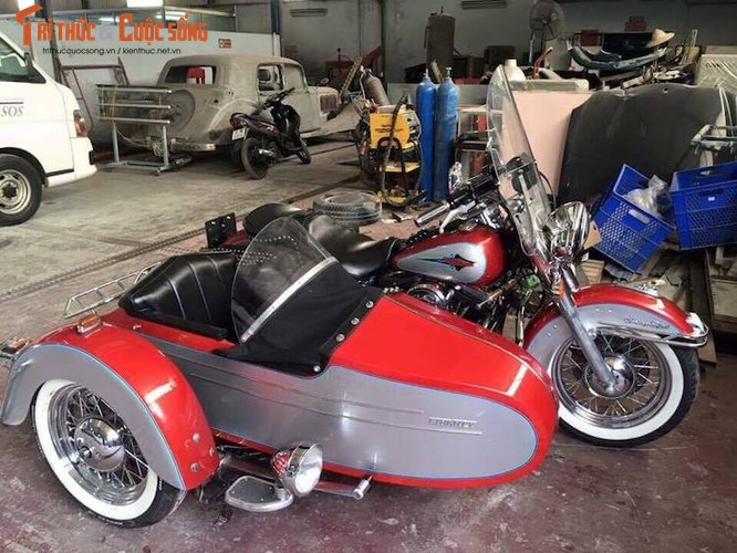 """Moto Harley Heritage Softail """"xit-do-ca"""" doc nhat VN-Hinh-2"""