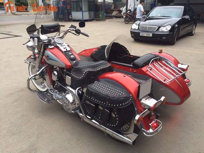 """Moto Harley Heritage Softail """"xit-do-ca"""" doc nhat VN-Hinh-3"""