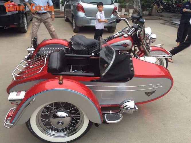 """Moto Harley Heritage Softail """"xit-do-ca"""" doc nhat VN-Hinh-5"""