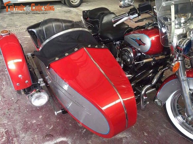 """Moto Harley Heritage Softail """"xit-do-ca"""" doc nhat VN-Hinh-6"""