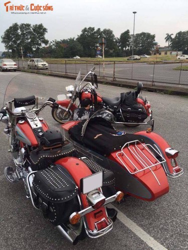 """Moto Harley Heritage Softail """"xit-do-ca"""" doc nhat VN-Hinh-7"""
