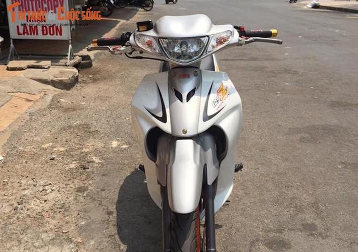 """""""Xe no"""" hai ky Yamaha Z125 do khung tai Long Xuyen-Hinh-2"""