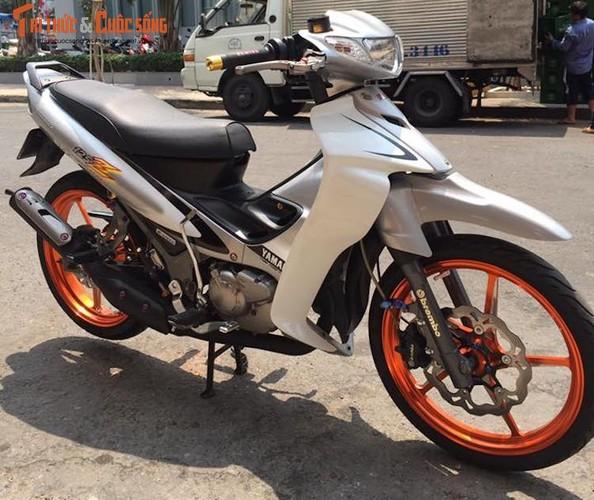 """""""Xe no"""" hai ky Yamaha Z125 do khung tai Long Xuyen-Hinh-8"""
