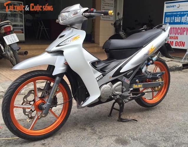 """""""Xe no"""" hai ky Yamaha Z125 do khung tai Long Xuyen"""