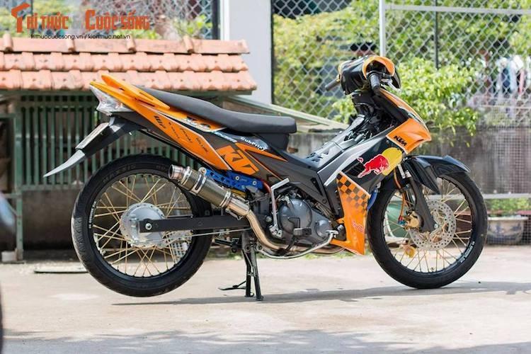 "Yamaha Exciter 135 do ""noi cong khung"" phong cach KTM"