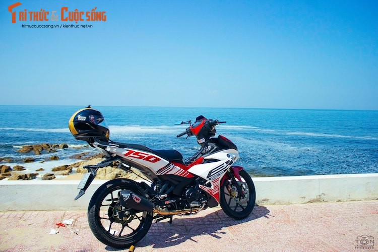 "Yamaha Exciter 150 ""bien khung, do chat"" tai Vung Tau-Hinh-5"