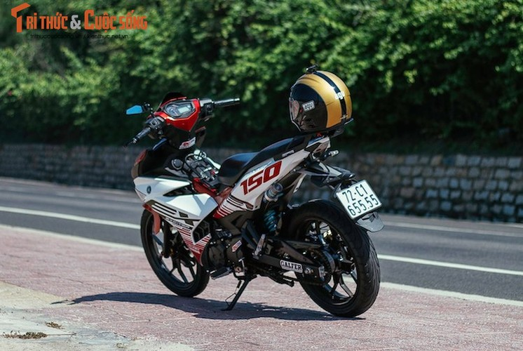 "Yamaha Exciter 150 ""bien khung, do chat"" tai Vung Tau-Hinh-8"