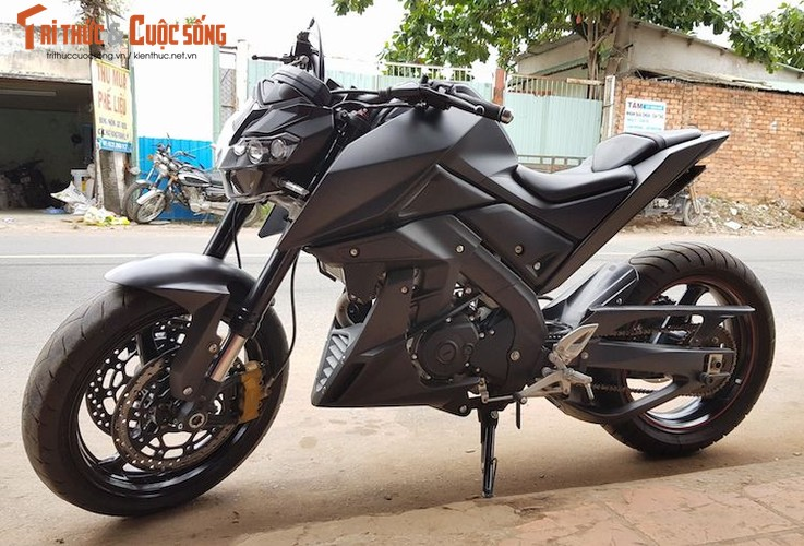 "Tho Viet do ""xe coi"" Yamaha TFX150 phong cach moto PKL"